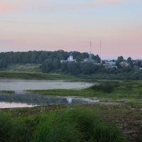 Вечер, вид на Монастырскую гору, Советск