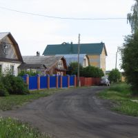 Деветьярово, ультрамариновый забор, Халтурин