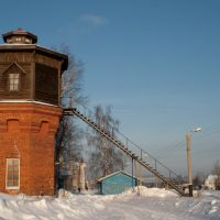 Водонапорная башня 19века, зима 2011, Юрья