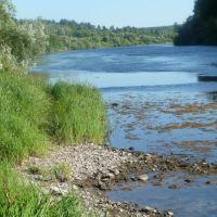 Река Ухта выше пос. Водный, Водный