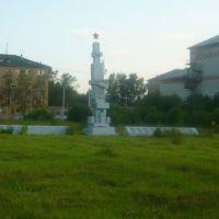 Памятник воинам, погибшим в ВОВ около Дома Культуры пгт Жешарт, Гешарт