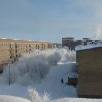 школа №8 зимой, Инта