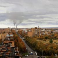 Вид на город с крыши д.48 по ул.Куратова, Инта