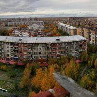 Вид на дворы с крыши д.№48 по ул.Куратова, Инта