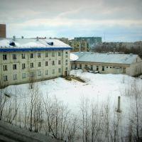 Вид с балкона на дом отдыха локомотивных бригад, Печора