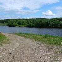 Здесь Ухта впадает в Ижму :: Here the river Ukhta runs into the river Izhma, Сосногорск