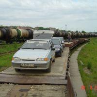 Погрузка на ж/д платформу, Сосногорск