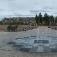 Детская площадка перед больницей, Сосногорск