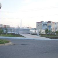 Фонтан за забором 2009.09.16, Усинск