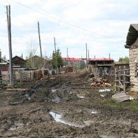 Sinsk - hospodářská ulička, Rusko, Усинск