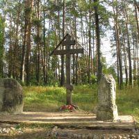 Памятный крест на месте городского кладбища и церкви Всех Святых., Кологрив