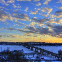 Winter sunset, Кострома