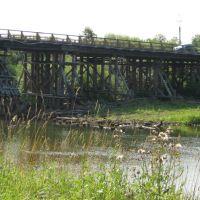 деревянный мост река Нея, Нея