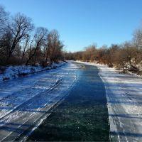 река Абин после январских морозов, Абинск