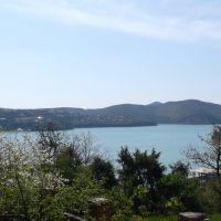 Озеро Абрау с высоты птичьего полёта / Lake Abrau birds-eye view, Абрау-Дюрсо