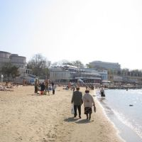 La playa en primavera, Анапа