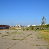 Площадка перед тиром в школе, Афипский
