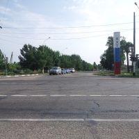 Въезд в посёлок Ахтырский, Ахтырский