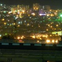 Вид на ночной Геленджик со смотровой площадки подножия горы Олимп, Геленджик