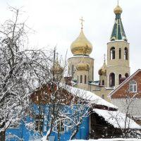 Улица Бабушкина,вид на Свято-Троицкий храм, Горячий Ключ