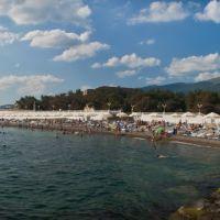Панорама пляжа пансионата Кабардинка, Кабардинка