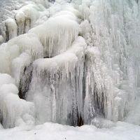 ручей  Мешока зимой, Каменномостский