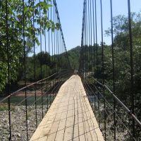 подвесной мост через реку Белая, Каменномостский