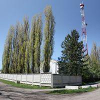 Каневская, возле ГПУ, вертикальная панорама - 25.04.2010 г., Каневская