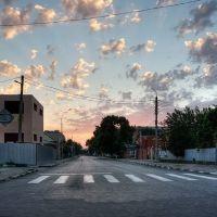 Каневская, перекрёсток улиц Нестеренко и Ленина вечером (26.07.2010 г.), Каневская