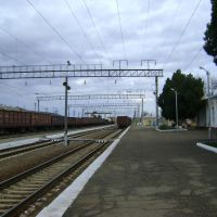 перрон станции Усть-Лабинская, Красноармейская