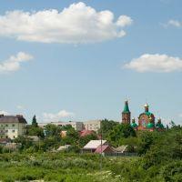 вид с моста на церковь, Крымск
