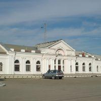The passenger building of train station Kuschevka, Кущевская