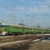 EMU-train ER9P-223 on train station Kuschevka, Кущевская