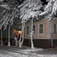 Snowy night in Labinsk. Снежная ночь в Лабинске., Лабинск
