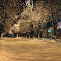 Snow on the main street. December 2013. Снег на главной улице. Декабрь 2013., Лабинск
