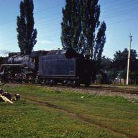 Пригородный поезд на подходе к ст. Мостовская.1983г., Мостовской