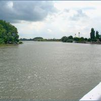 Вид с моста через реку Протоку., Славянск-на-Кубани