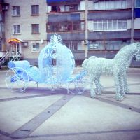 когда зимой фонтан отключён..., Славянск-на-Кубани