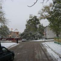 Утро 3 ноября 2009 г. ул. Советов - ул. Лермонтова, Старощербиновская