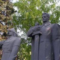 Тимашевск. Памятник воинам у Вечного огня. - Monument., Тимашевск