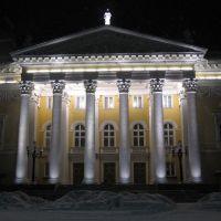 Железногорск - Дворец культуры с подсветкой вечером, Железногорск