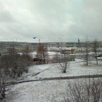 снег в конце октября, Зеленогорск