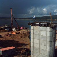 этап строительства моста 25 августа 2009 года, Абакан