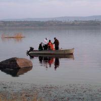 Angara River. boat.. лодка., Абакан