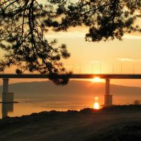 мост закат, Абакан
