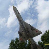 МиГ-21 на плацу АВАТУ, Ачинск