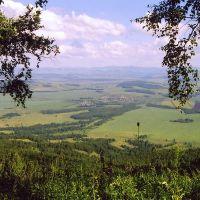 Вид на пос Добромысловский с холма, Балахта