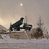 памятник автомобилистам- строителям Красноярской ГЭС.., Балахта
