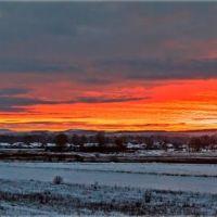 Восход над Курагино(январь 2014), Белый Яр