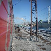 Поезд Красноярск-Адлер на ст. Боготол, Боготол